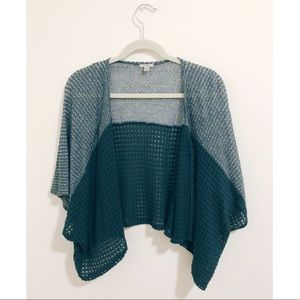 Urban Outfitters teal short sleeve cardigan